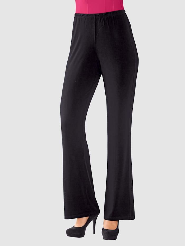 MIAMODA Nohavice s elastickou pásovkou, Čierna
