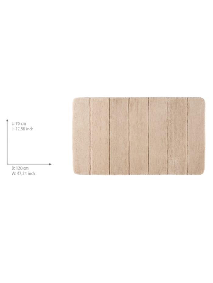 Badteppich Steps Sand, 70 x 120 cm, Mikrofaser