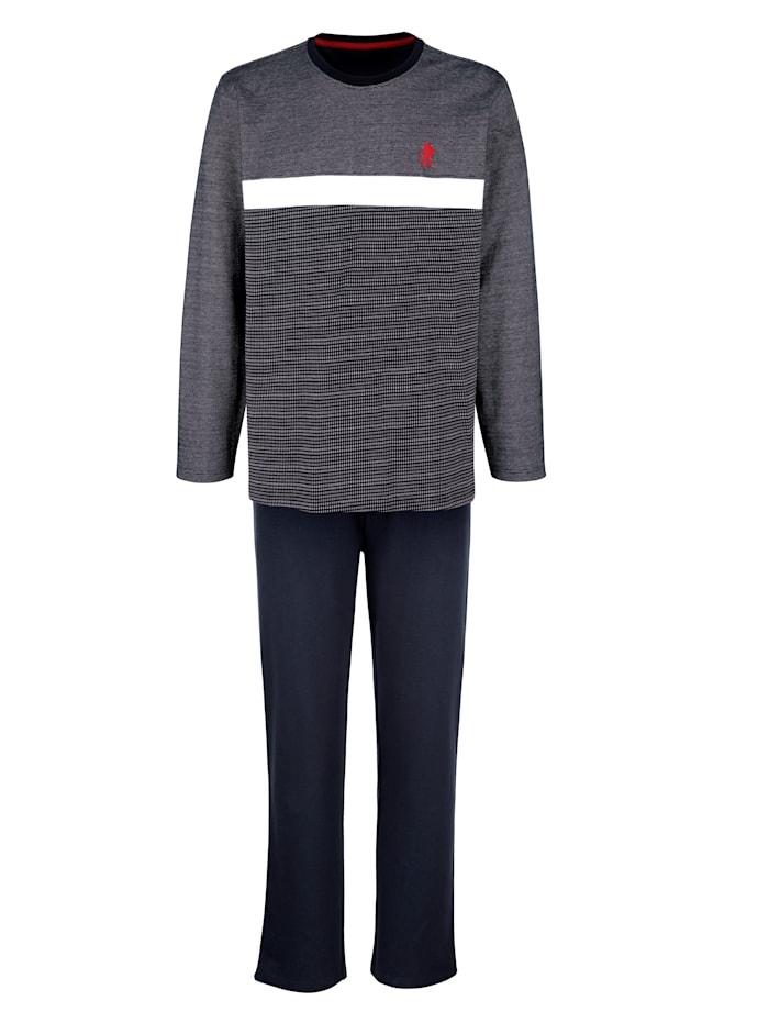 G Gregory Huispak met sportieve trui, Marine/Wit/Rood