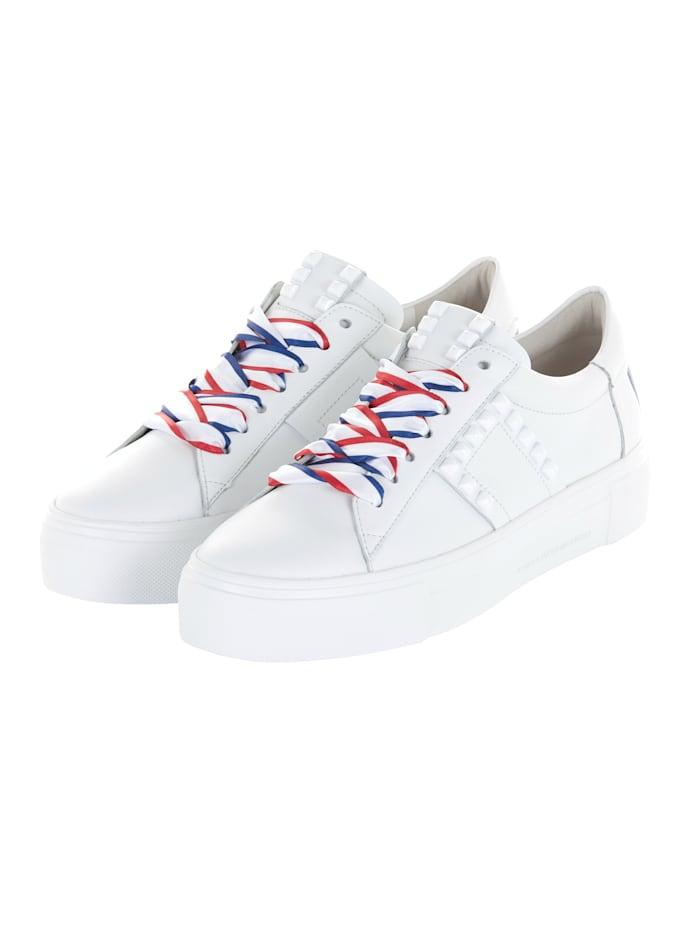 Kennel & Schmenger Sneaker Farbige Satin-Schürbänder, Weiß