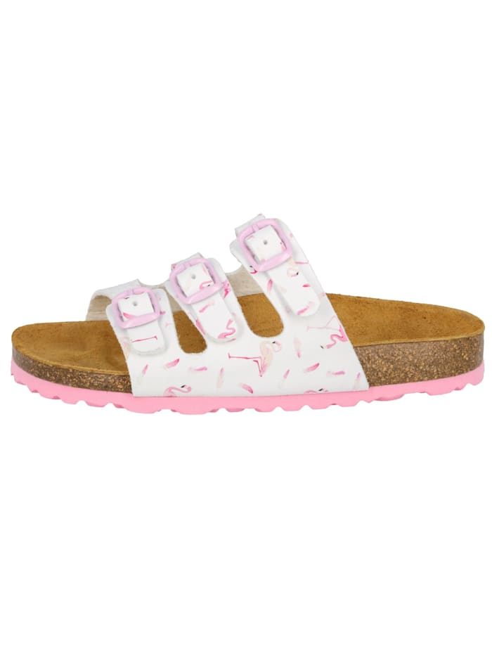 Lico Pantolette, weiss/rosa
