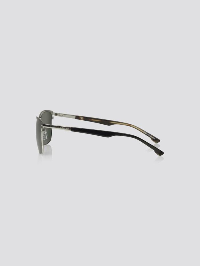 Rechteckige Sonnenbrille mit Metallriemen