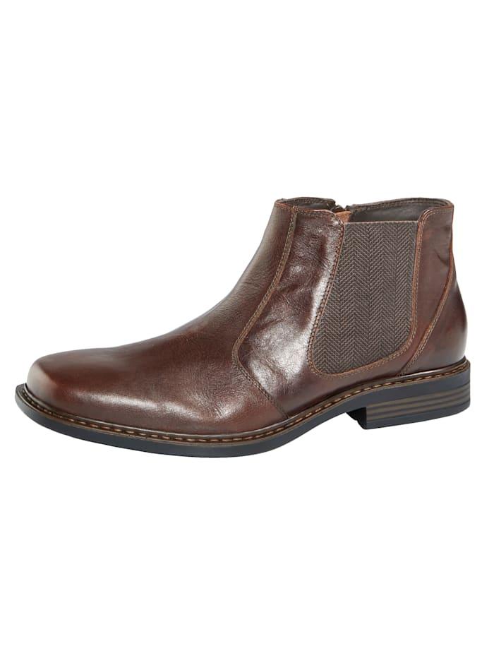 Roger Kent Chelsea obuv s praktickým vnútorným zipsom, Tmavohnedá