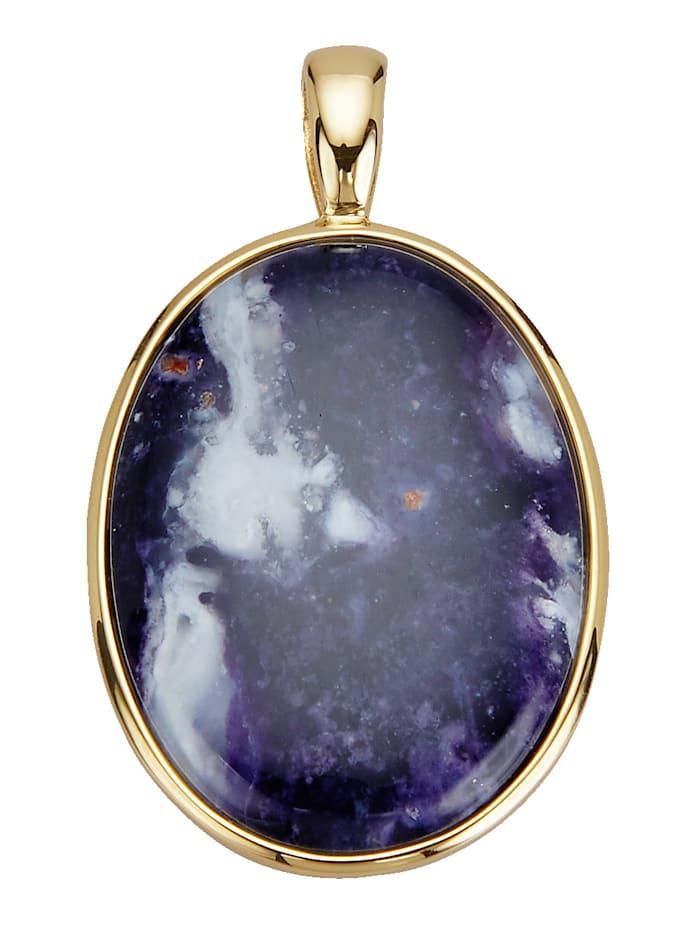 Diemer Farbstein Anhänger mit Amethyst-Opal, Blau