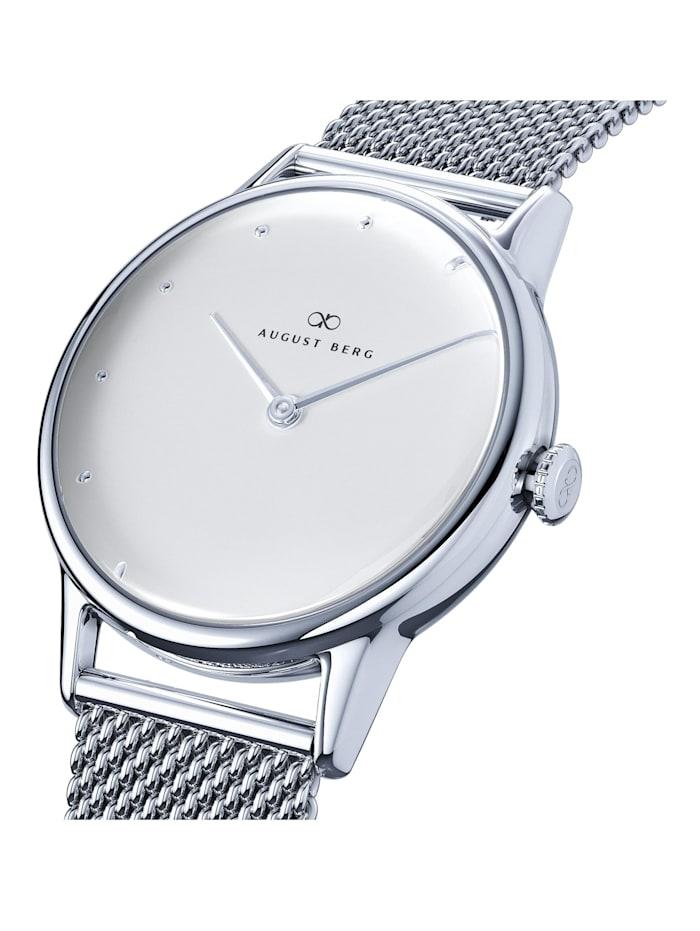 Uhr Serenity Sky Blue Silver Dot Silver Mesh 32mm