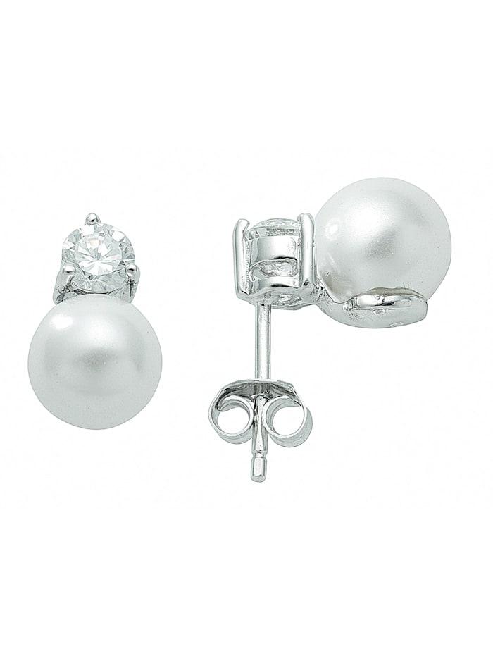 1001 Diamonds Damen Silberschmuck 925 Silber Ohrringe / Ohrstecker mit Zirkonia, natur