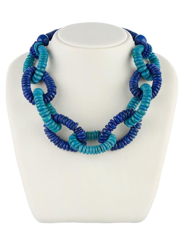 KLiNGEL Halskette aus Holz, Blau