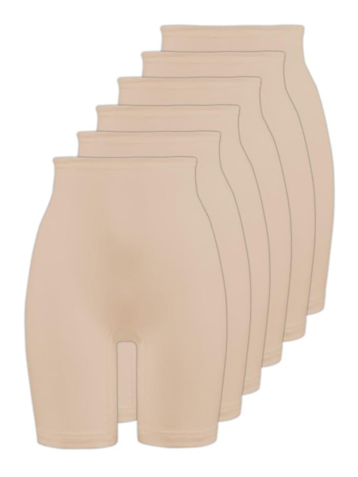 Naturana 6er Sparpack Damen Langbeinschlüpfer, skin