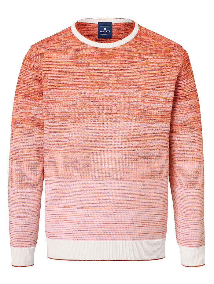 BABISTA Pullover Garn & Konfektion Made in Italy, Orange/Weiß