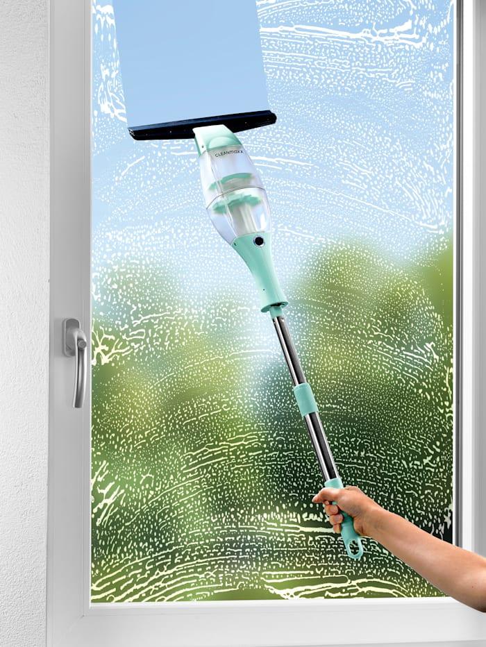 Cleanmaxx CLEANmaxx Akku-Fensterreiniger mit praktischer Verlängerungsstange, mint/schwarz