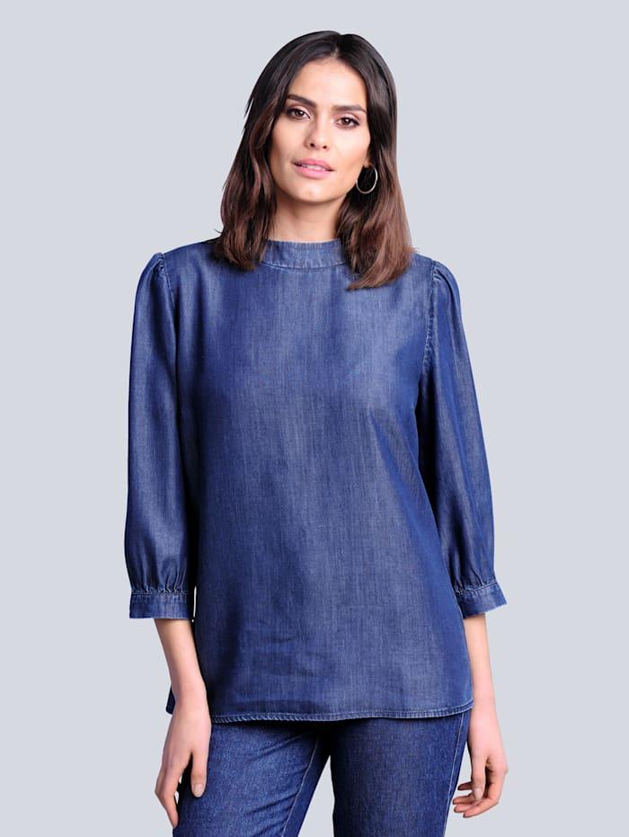 Alba Moda Blúzka v jemnej kvalite, Dark blue