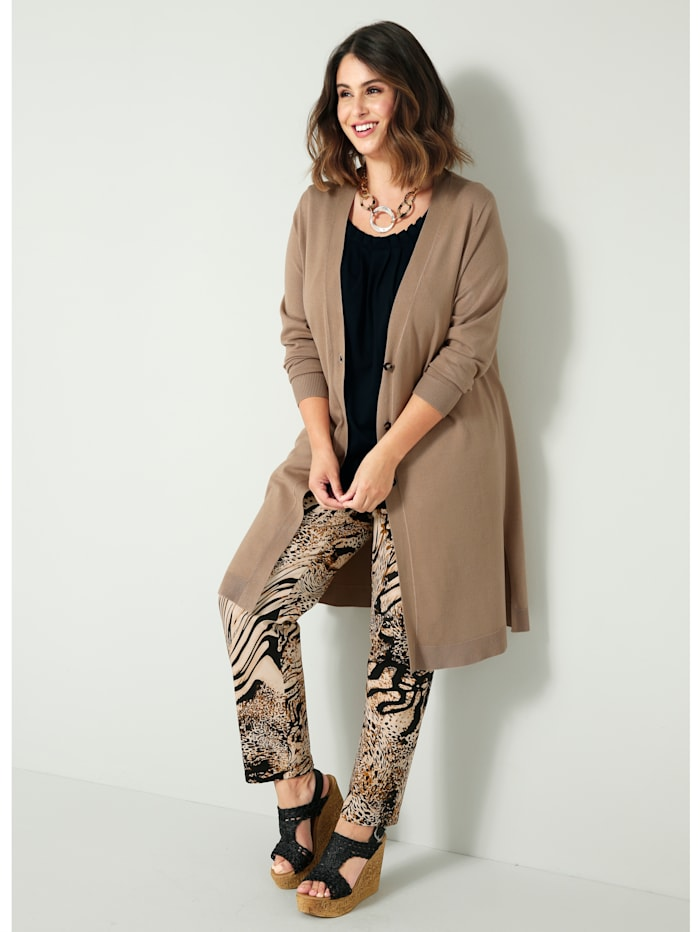 Sara Lindholm Vest in chic model, Camel