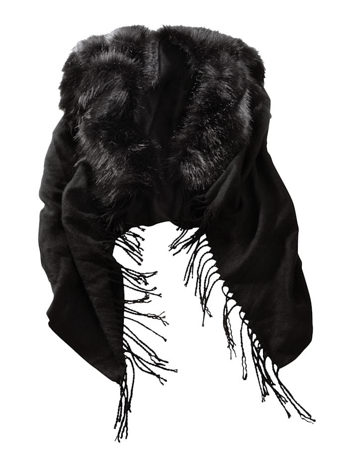 Alba Moda Poncho voor koude dagen, Zwart