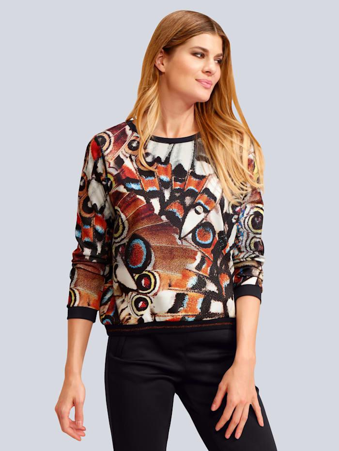 Sweatshirt mit Federmotiv