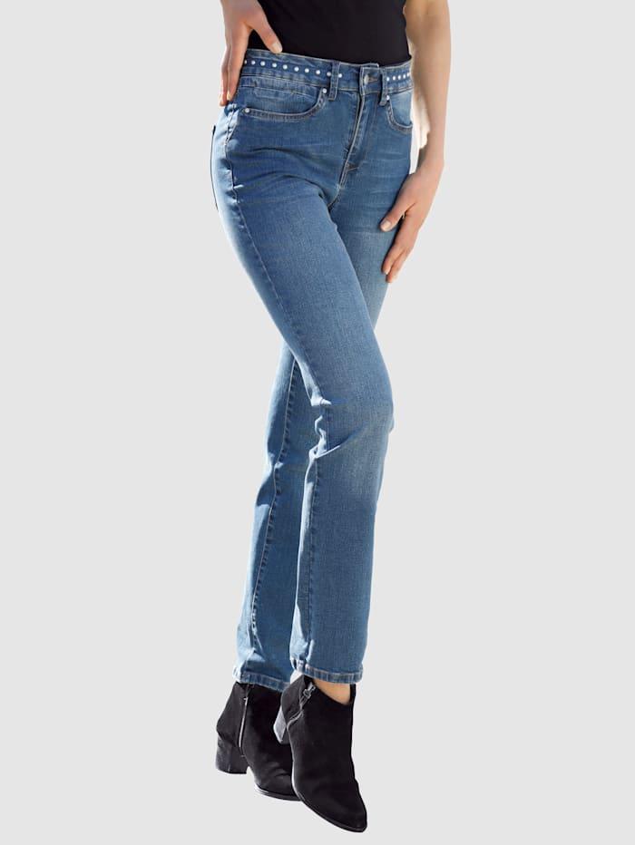 Dress In Jeans in Sabine Slim model, Blue bleached