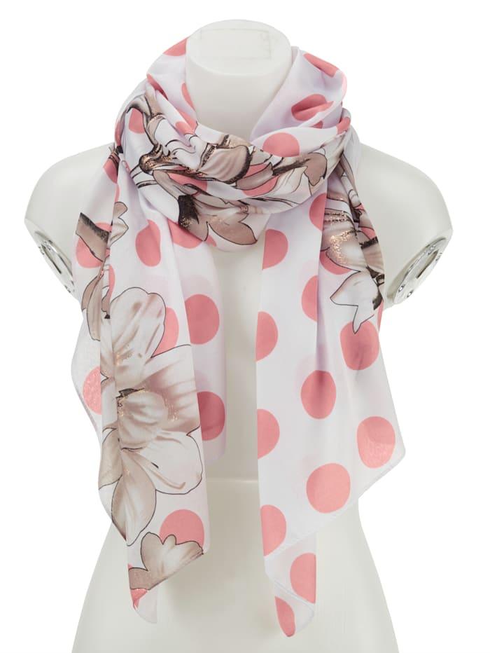 Sjaaltje, wit/roze