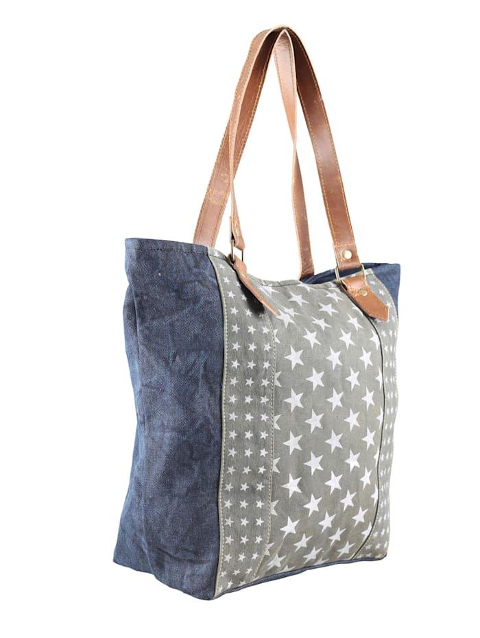 Schultertasche Laetitia mit Sternen aus Jeansmaterial