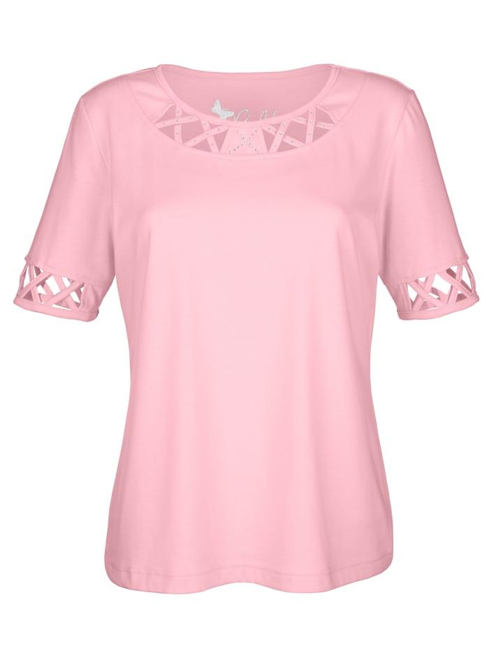 Paola Shirt mit besonderen Details, Rosé