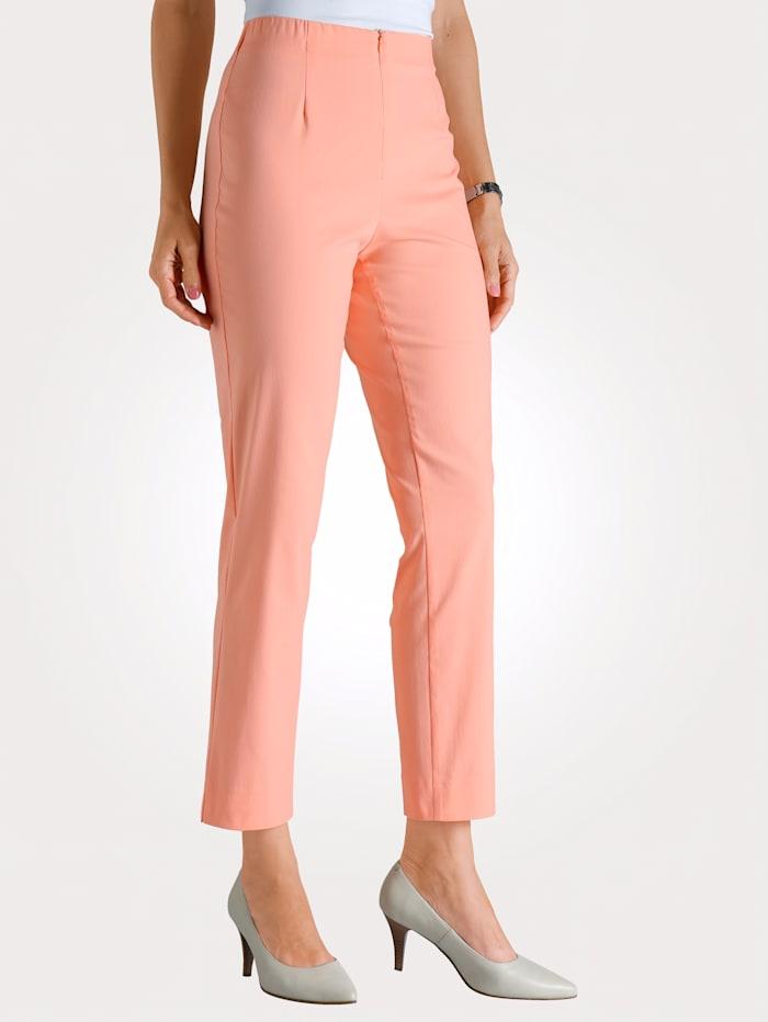 MONA Pantalon 7/8 en coton mélangé, Abricot