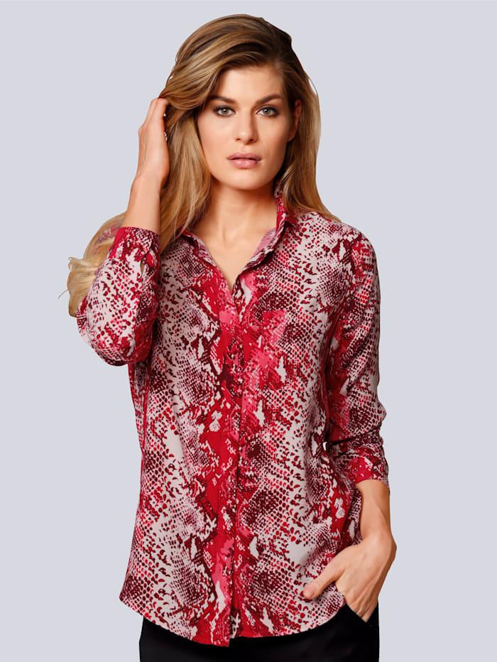Bluse im auffallendem Muster
