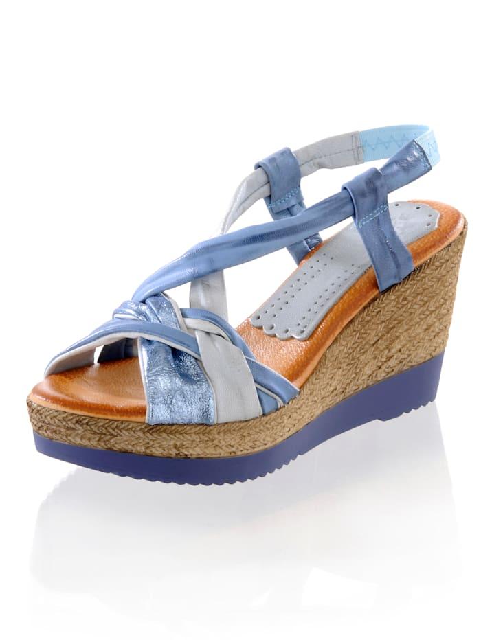 CINQUE Sandalette mit bequemen Keilabsatz, Blau