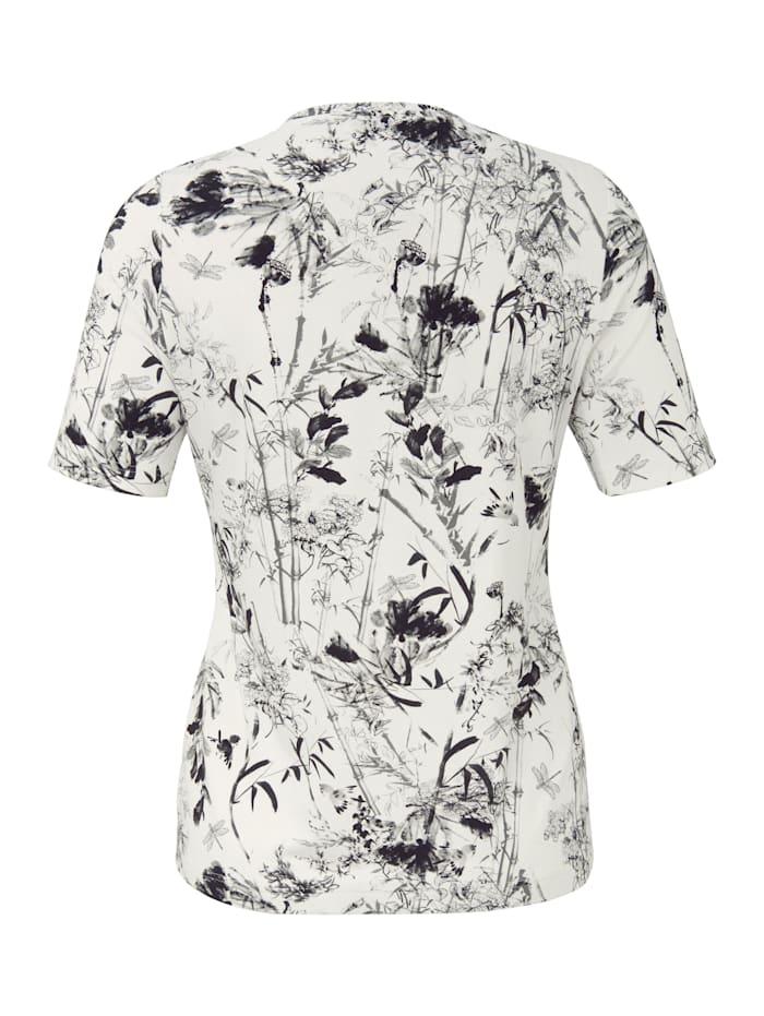 Shirt mit Blumenmuster mit Rispen .