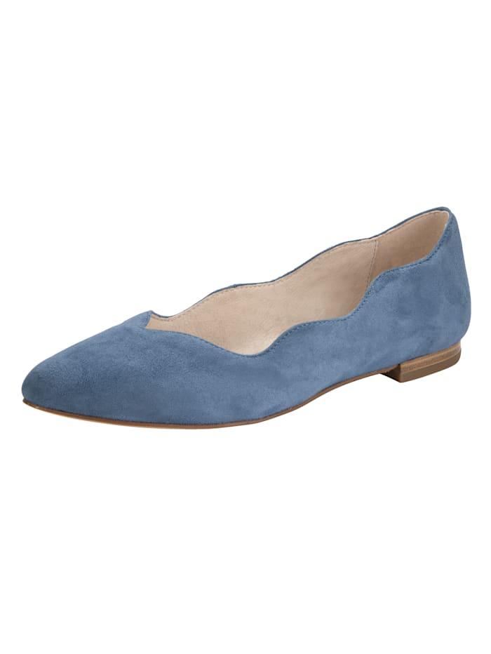 Caprice Ballerina mit spezieller Sacchetto-Machart gefertigt, Blau