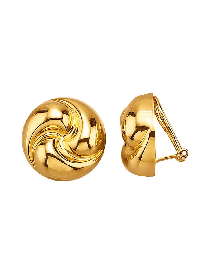 Golden Style Klipsikorvakorut, Keltakullanvärinen