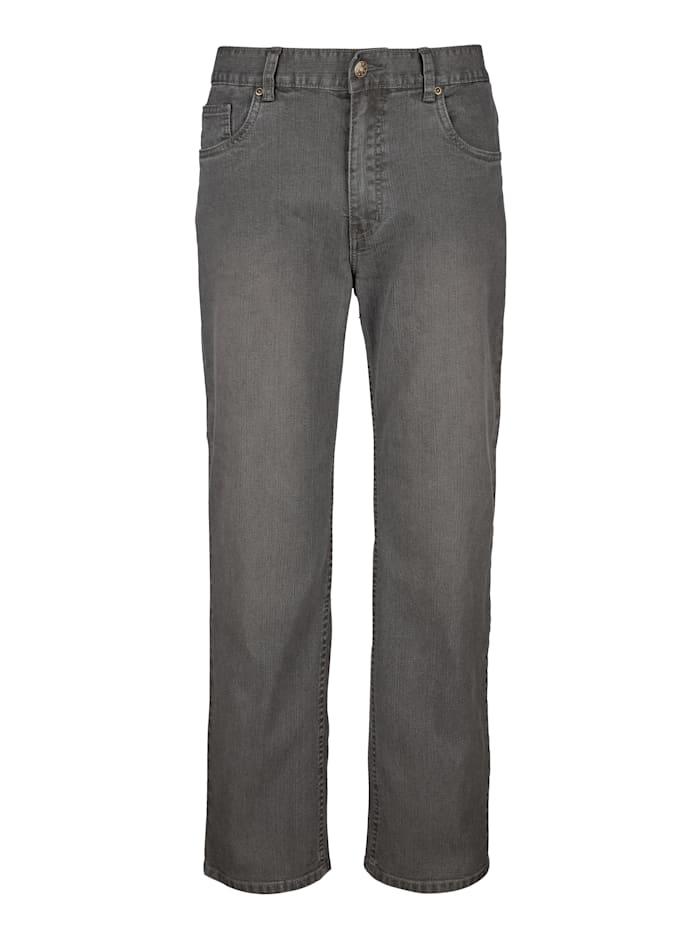 Roger Kent 5-Pocket Jeans mit Elasthan, Grau