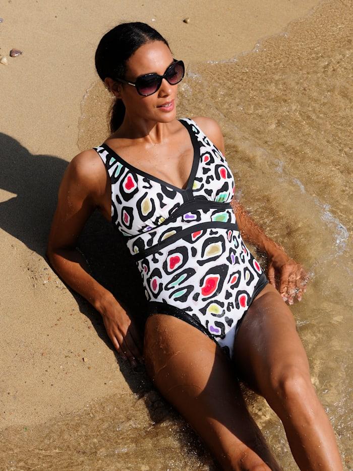 Sunflair Badeanzug aus recycelten Fasern, Schwarz
