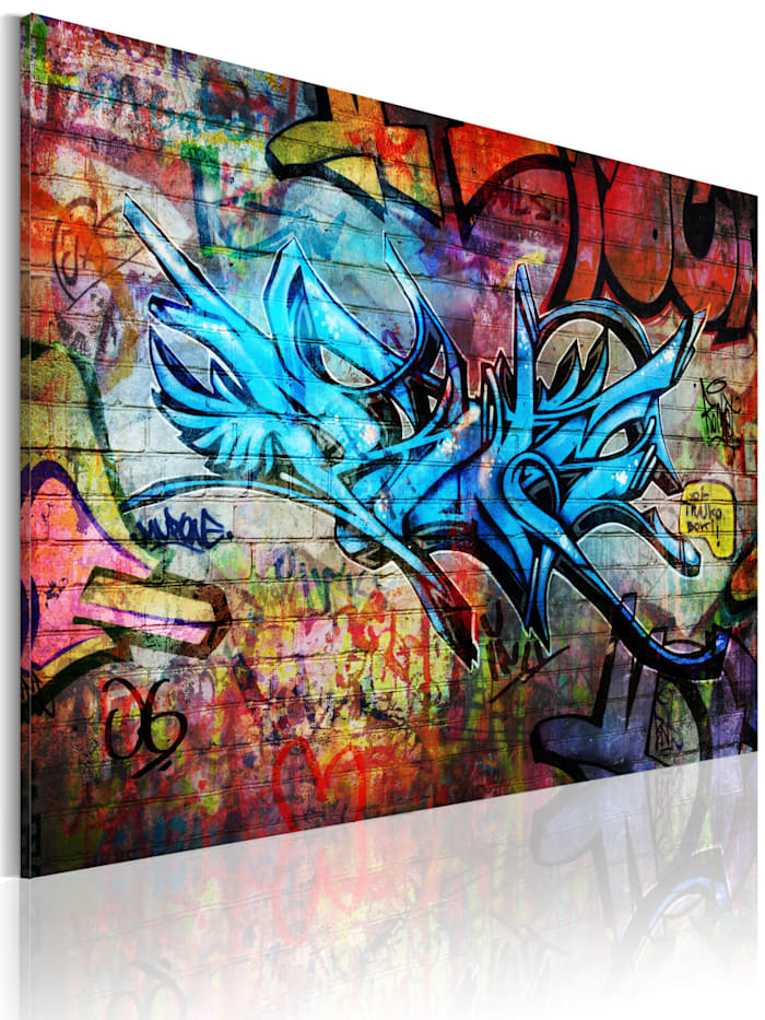 artgeist Wandbild Anonymous graffiti, mehrfarbig