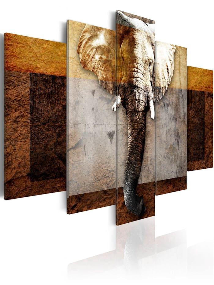 artgeist Wandbild Strength of Africa, Braun,Beige,Kupfer,Creme