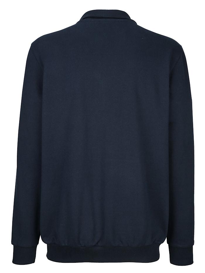 Sweatshirtjacka med detaljer i kontrast