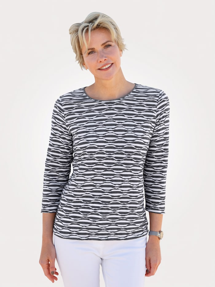 Rabe Top in a textured finish, Anthracite/Ecru