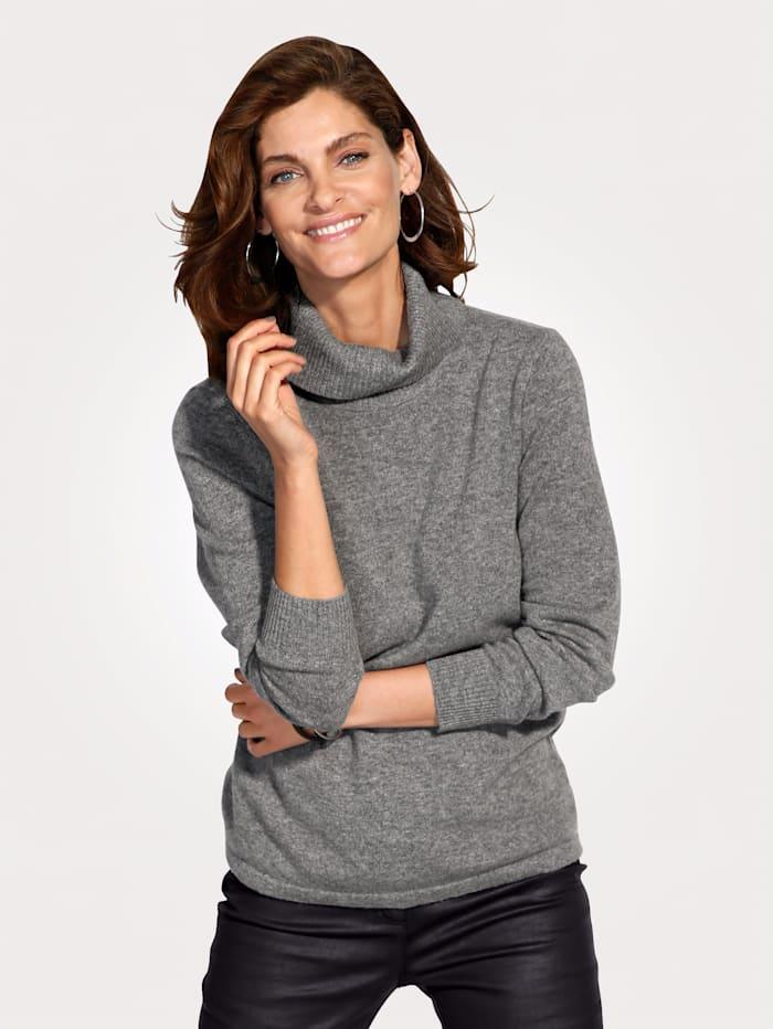 MONA Kaschmir-Pullover mit Rollkragen, Silbergrau