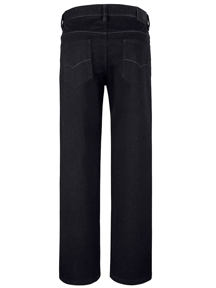 Pantalon 5 poches d'aspect laine