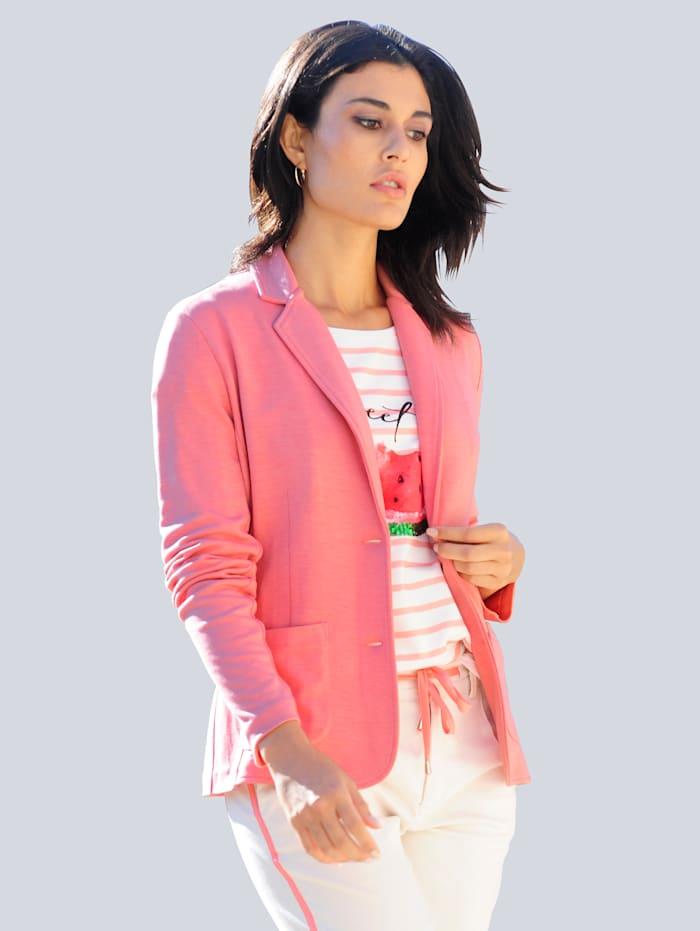 Alba Moda Blazer van comfortabel jerseymateriaal, Koraal