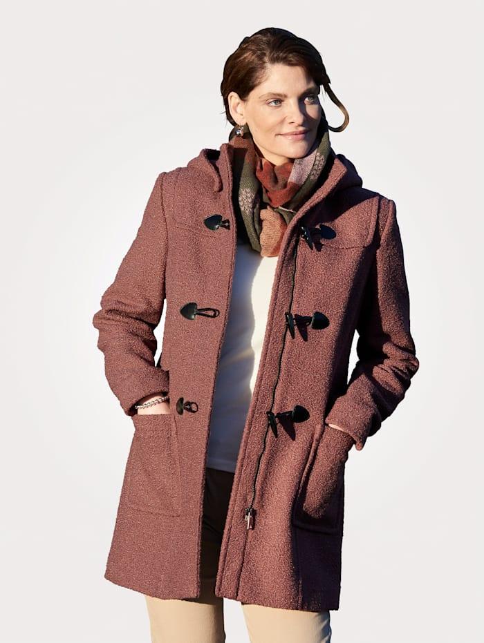 MONA Duffle-coat avec capuche déboutonnable, Vieux rose