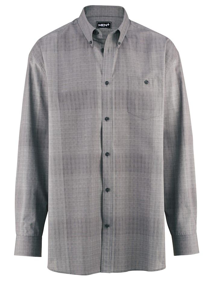 Men Plus Chemise de coupe spéciale, Noir/Gris/Blanc