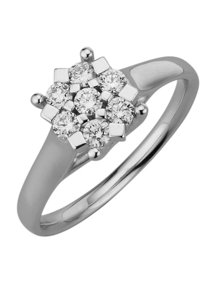 Amara Diamants Bague avec brillants purs à la loupe, Blanc