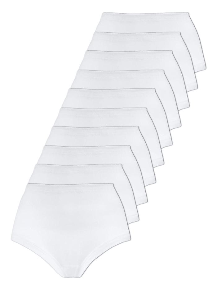 Naturana 10er Sparpack Damen Taillenslip, Weiss