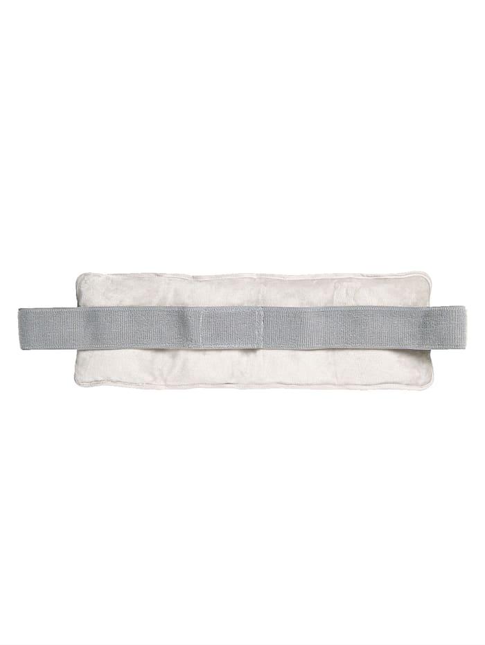Fashy Rückenkissen mit einseitiger Plüschoberfläche, grau