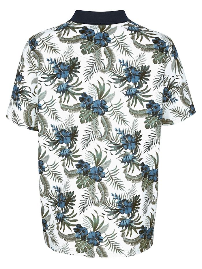 Poloshirt met modieuze bloemenprint