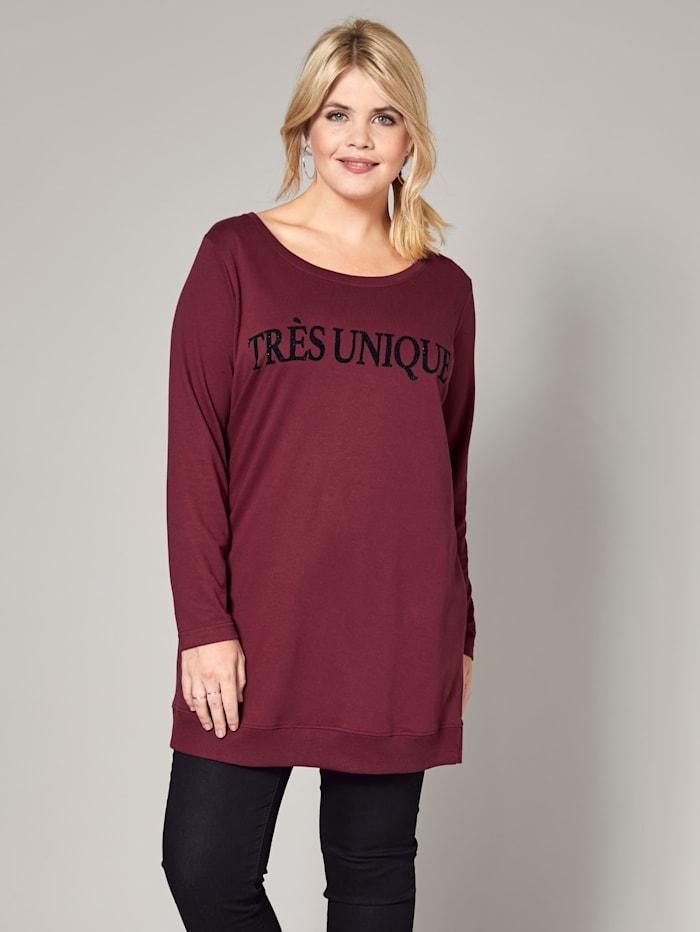 Long-Sweatshirt mit Statementprint