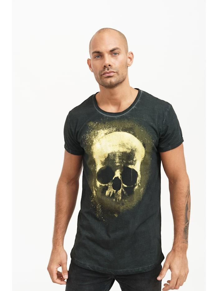 trueprodigy T-Shirt Blaine mit Totenkopf-Print, 2999-Black