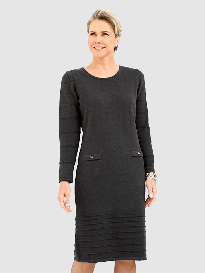 MONA Šaty z čisté bavlny, Antracitová
