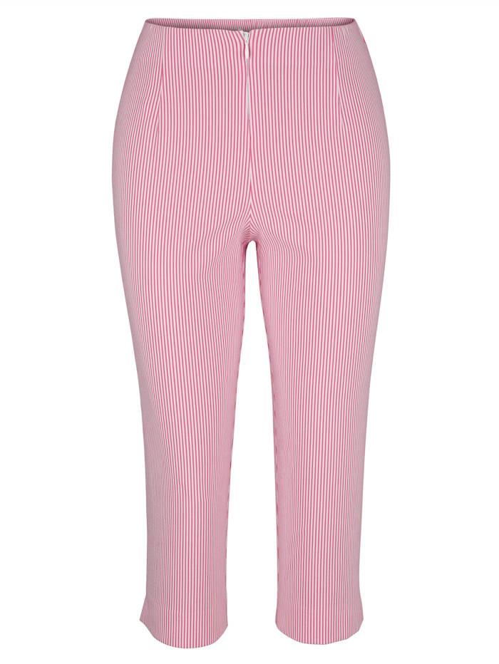 Capri trousers in a striped pattern
