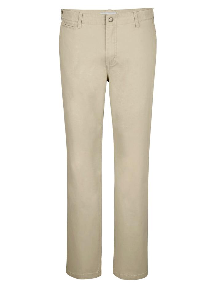Roger Kent Flat-Front Hose mit verstellbarem Bund, Kitt