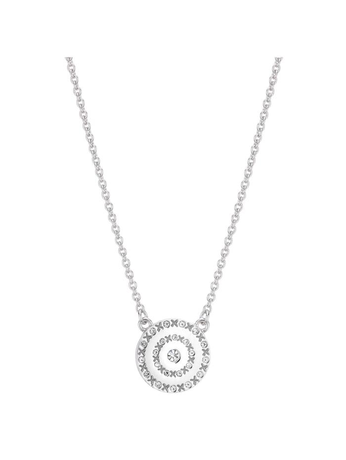 Buckley Collier Messing Kristall 45,5cm+5cm rhodiniert, weiß