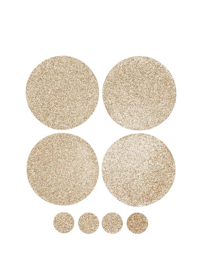 IMPRESSIONEN living Platz-Set, 4-tlg., inklusive Untersetzer-Set, 4-tlg., goldfarben